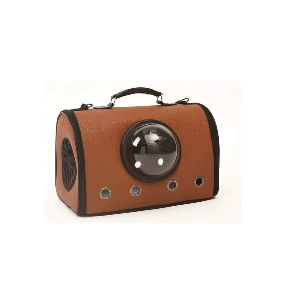 Brown HUIJUNWENTI Pet Carrier, Carry Portable Pet Carrier, Portable Pet Carrier, Dark Brown, Brown, Yellow (color   Brown)