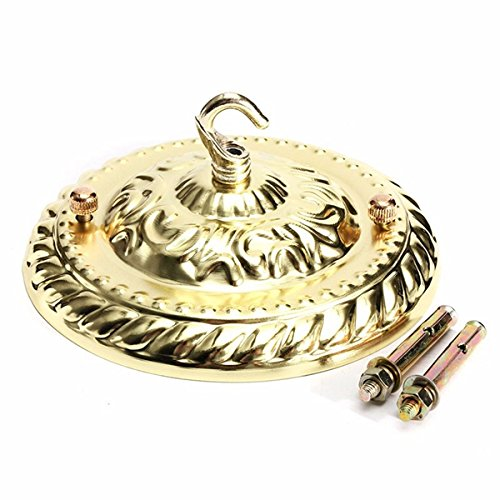 Vintage Ceiling Rose Cap Hook Plate Holder Edison Light Fitting Chandelier Lamp (Random: Color)