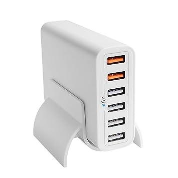 iNepo 60 W Cargador USB HUB con soporte estándar de 4 ...