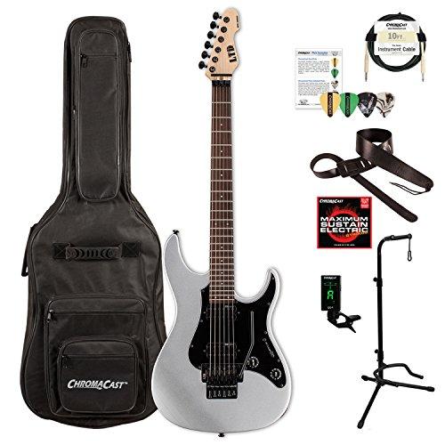 ESP LSN200FRRMS-KIT-1 SN Series SN-200FR ROSEWOOD Electric Guitar, Metallic Silver