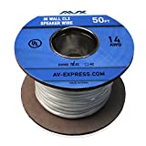 AVX Audio - 50 Feet 14 AWG CL2 Rated (For In-Wall Usage) 2-Conductor. Oxygen Free Copper Speaker Wire - 110-1210