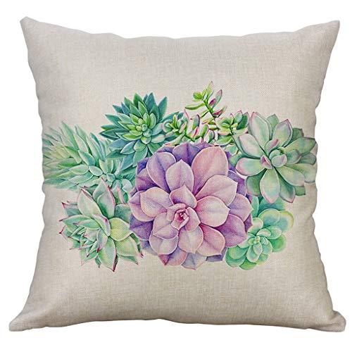 2019 Pillow Case Halloween,Gray Pillow Cases,Simple Linen Creative Lovely Pillow Cover Pillow Cover Car Pillow Cover ()