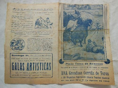 Plaza - Cartel : PLAZA TOROS DE REQUENA. 1952 Luis Miguel ...