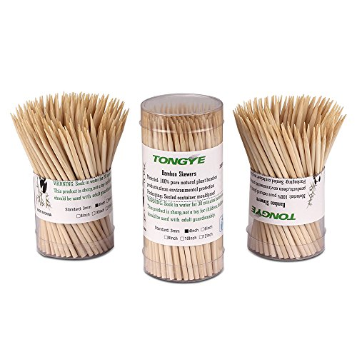 """Premium Natural BBQ Bamboo Skewers for Shish Kabob, Grill, Appetizer, Fruit, Corn, Chocolate Fountain, Cocktail and More Food, More Size Choices 4""""/6""""/8""""/10""""/12""""(200 PCS)"""