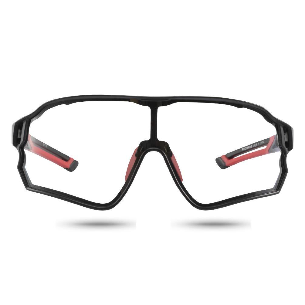 ROCKBROS Photochromic Rimless Cycling Sunglasses Eyewear UV400 Goggles 1 Lense