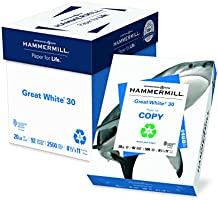 Deal on Hammermill Paper, Great White 30% Recycled Printer Paper, 8.5 x 11 Paper, Letter Size, 20lb Paper, 92 Bright, 5...