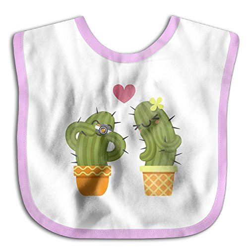Fashion Baby Boy Girls Printed Loving Couple Of Cactus Taking A Pictures Eating Bibs