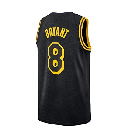 029540f90 Gumfor Mens Kobe Jersey Los Angeles 8 Basketball Bryant City Black (Black,  Small)