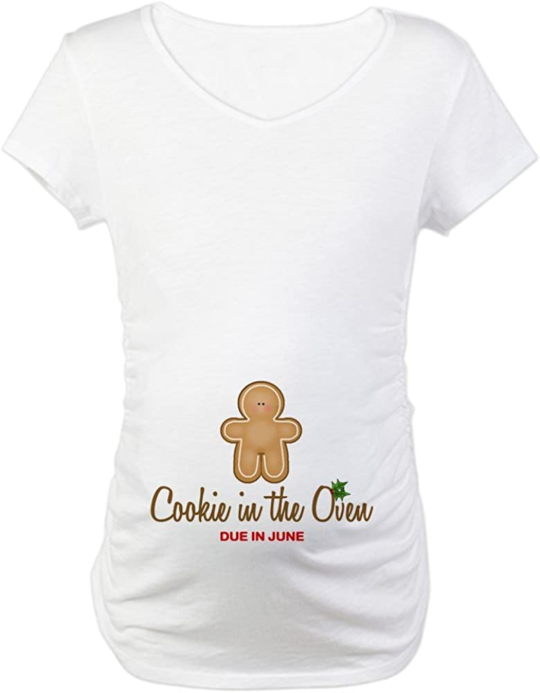 CafePress Due June Cookie Maternity T-Shirt Maternity Tee