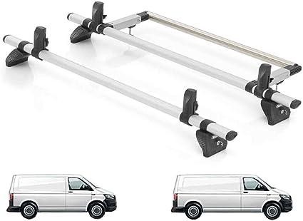 Van Demon Rhino - Sistema de Barras de Techo y Escalera Trasera de Acero para VW Transporter T6 (2015 en adelante): Amazon.es: Coche y moto