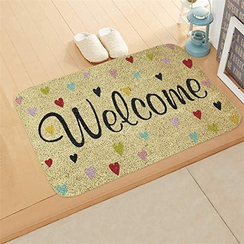 Muilek Rectangle Non-Slip Door Mat Bedroom Kitchen Entrance Print Floor Mat Doormats