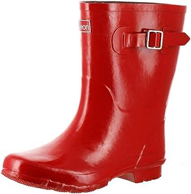 Amazon.com   Jileon Mid Calf Rain Boots