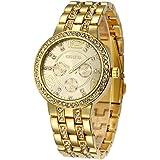 Fanmis Geneva Alloy Band Quartz Watches Luxury...