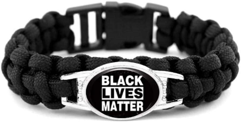 Black Lives Matter Paracord Survival Bracelet