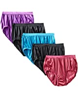 Hanes Women's Nylon Brief Panty, Assorted (Pack of 5)