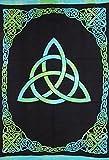 Celtic Trinity Tie Dye Tapestry Heavy Cotton Spread 98'' x 70'' Twin Blue