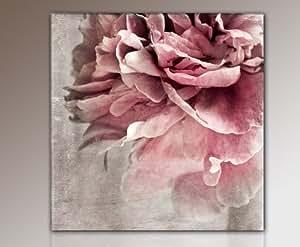 Top lienzo flores (Flower de 50 x 50 cm) imágenes enmarcado con bastidor enorme. impresión sobre lienzo; incluye marco