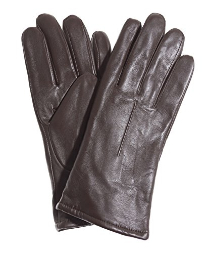 Pratt and Hart Women's Classic Sherpa Lined Leather Gloves Size 8 1/2 Color Brown