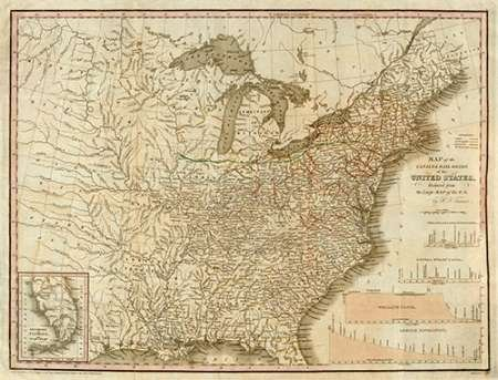 (A Connected View of The Whole Internal Navigation of The United States, 1830 by Henry Tanner 26