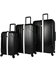 Steve Madden B-Stripe Luggage Sets 3 Piece Hardside Suitcase With Spinner Wheels