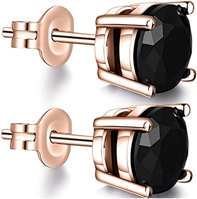 3MM TO 10MM tusakha Fancy Party Wear Princess Cut Peridot Solitaire Stud Earrings 14K Rose Gold Over .925 Sterling Silver For Womens /& Girls