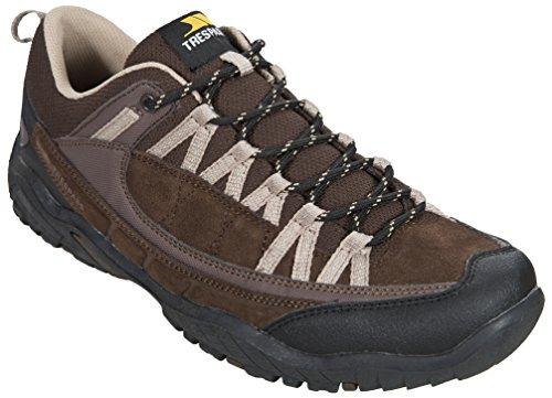 Trespass Taiga - Zapatillas de atletismo de cuero para hombre marrón - Brown (Heath)