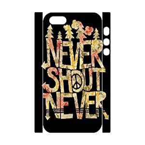 DIY 3D Case Cover for iPhone 5,iPhone 5s w/ Never Shout Never image at Hmh-xase (style 2) by waniwa