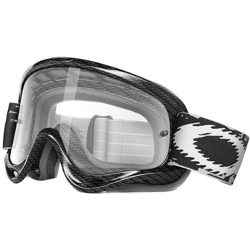 Oakley MX O Frame Carbon Fiber Print Adult Dirt Off-Road/Dirt Bike Motorcycle Goggles Eyewear - Clear/One Size Fits All