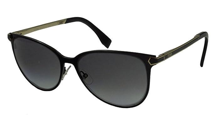 Amazon.com: Fendi – Gafas de sol 0022/S/: Negro brillante ...