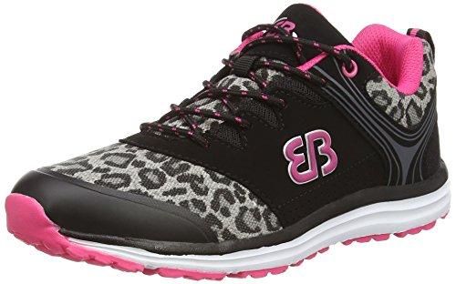 Brütting Pink de Course Schwarz Noir Chaussures Femme Print Schwarz rpBSqr