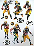 FATHEAD Green Bay Packers Team Set 6 Players + 6 Packers Logo Official NFL Vinyl Wall Graphics AARON RODGERS, CLAY MATTHEWS 7'' INCH EACH