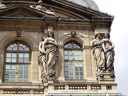 Home Comforts Canvas Print Pavilion Paris The Louvre Statues The Caryatids Vivid Imagery Stretched Canvas 32 x 24