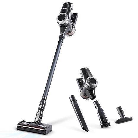Alfawise V9 Aspirador a mano, Aspirador recargable, 4 en 1 cepillos intercambiables, Aspirador inalámbrico, Potencia de 12000-19000 Pa limpieza rápida ...