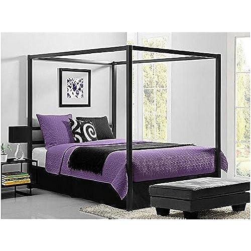 bakersfield european style metal canopy bed queen - European Bed Frame
