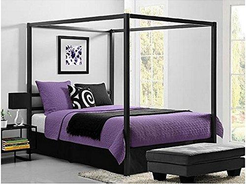 Bakersfield European-Style Metal Canopy Bed (Queen) (Metal Size Bed Queen Canopy)