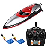 Virhuck H120 RC Boat 2.4GHz 4CH High Speed Remote Control Electric Racing Boat with 150M Long Remote Control Distance