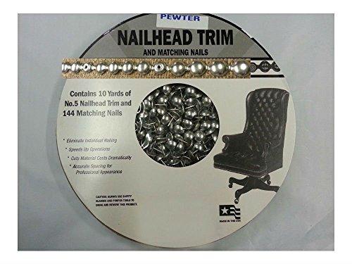 NEW! 30 Feet Upholstery PEWTER Tackstrips Roll Nail Strip Nailhead Trim (Trim Nailhead Brass)