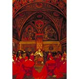 'Frank Cadogan Cowper - Lucretia Borgia Reigns in the Vatican in the Absence of Pope Alexander VI,1910' oil painting, 30x44 inch / 76x111 cm ,printed on high quality polyster Canvas ,this Best Price Art Decorative Canvas Prints is perfectly suitalbe for Living Room decor and Home artwork and Gifts