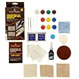 The Most Complete 28 Piece Professional Leather Color Restoration Repair Kit, 10 Colors No Heat Required! For Couches, Car Seats, Sofa's, Handbags and More! Designed by Pro's for All Skill Levels