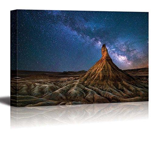 Beautiful Scenery Landscape Bardenas Desert Milky Way Navarra Spain Nature Beauty Wall Decor ation