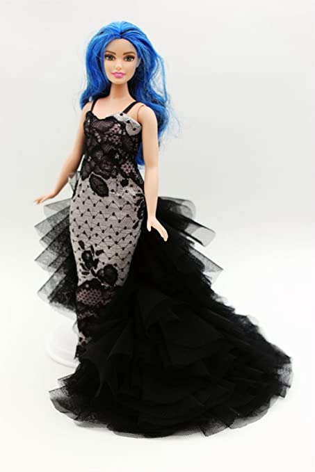 Amazon.com: [Fit Curvy Barbie] Cora Gu Classic LongTrain Black Lace ...