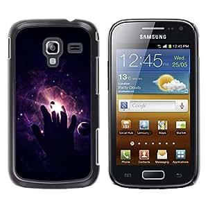 TopCaseStore / la caja del caucho duro de la cubierta de protección de la piel - Cosmos Space Deep Meaningful Black - Samsung Galaxy Ace 2 I8160 Ace II X S7560M