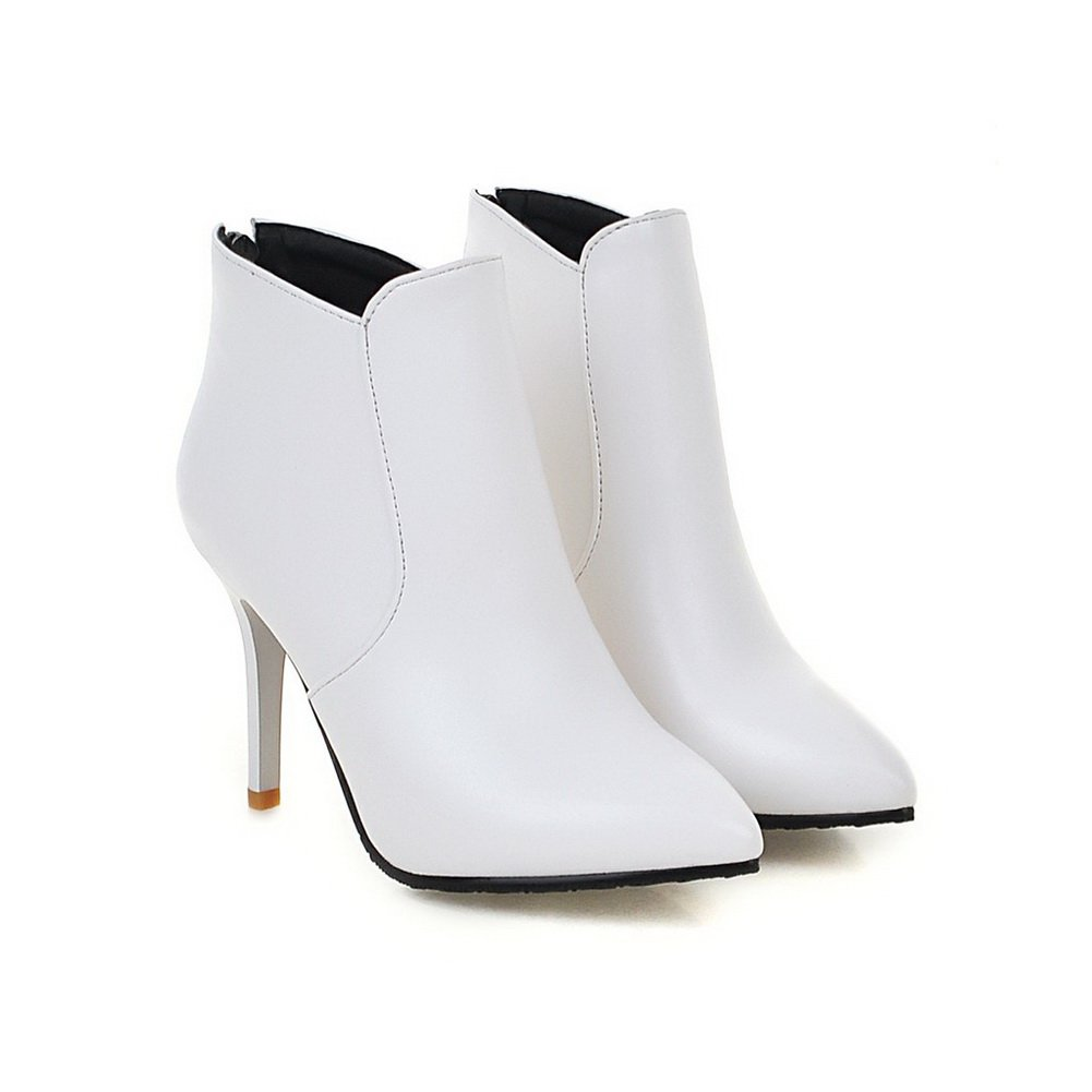 BalaMasa Ladies Mule Wheeled Heel Shoes European Style Boots Imitated Leather Boots Style B01KWGNMK6 Boots 9990ae