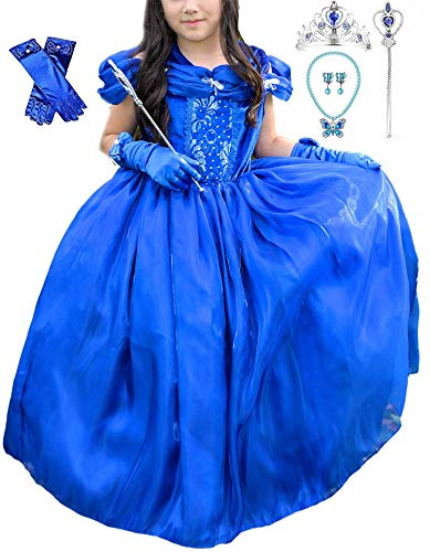 Romy's Collection Princess Cinderella Special Edition Blue Party Deluxe Costume Dress-Up Set (Blue 3, 7-8)]()