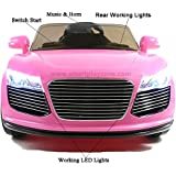 Predatour 12v Kids Electric Ride on Car with Parent Remote Control (Pink)