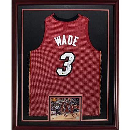 promo code 7c138 d111e Dwyane Wade Autographed Signed Auto Miami Heat Red #3 Deluxe ...