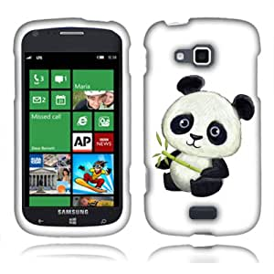 Fincibo (TM) Samsung ATIV Odyssey I930 Protector Cover Case Snap On Hard Plastic - Baby Panda, Front And Back