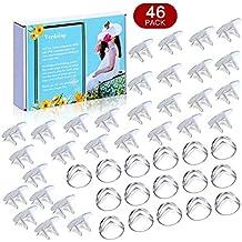 [Patrocinado] 16 protectores de esquina transparentes para bebés a prueba de bebés (46 unidades), 30 tapones de salida, aptos para esquinas afiladas y enchufes. Protectores de esquina, cubiertas de salida.