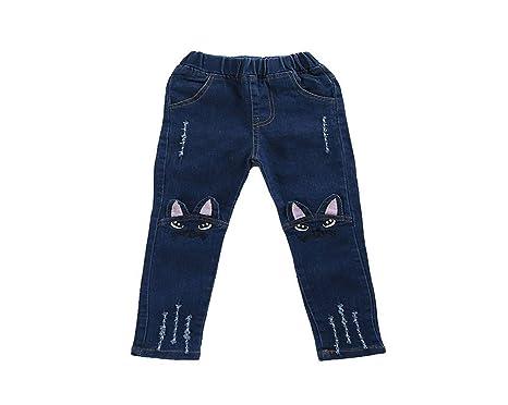Wimagic - Pantalones Vaqueros para niña (algodón), diseño de ...