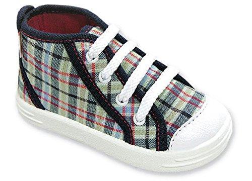 LEMIGO - Zapatillas de estar por casa de algodón para niño Azul Oscuro/Karo